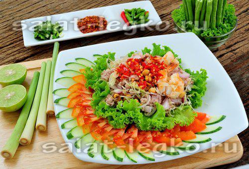 Салат для дня рождения рецепты простые