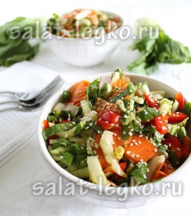 рецепты салатов с соевым соусом