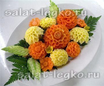 салат в апельсине с креветками фото рецепт