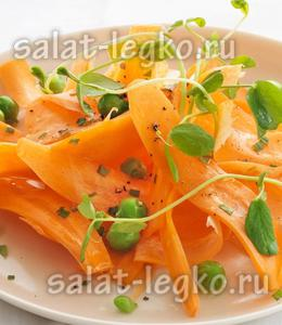 рецепты вкусных салатов из свежей моркови