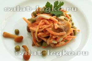 Салат картошка шампиньоны курица морковь