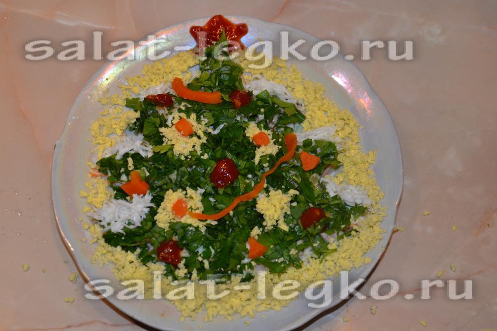 Украшение салата оливье с фото