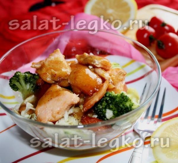 рецепты салатов с красной рыбой с фото на новый год 2018