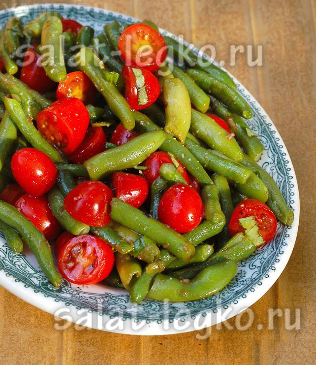 рецепты салатов со стручковой фасолью и с грибами