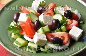 диетические салаты без майонеза рецепты с фото