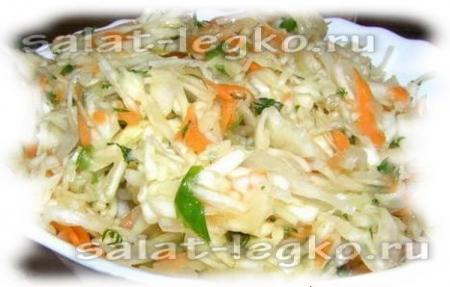 рецепты салатов из капусты с растительным маслом
