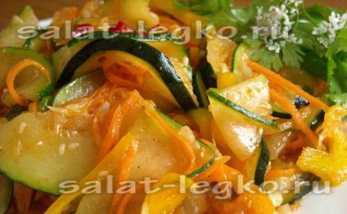 салат из кабачков на зиму рецепты с фото пошагово