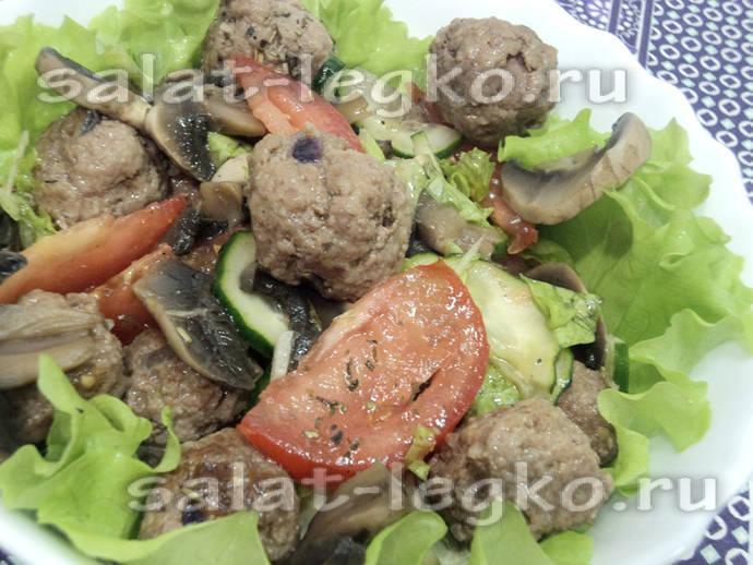 Салат с консерв фасолью