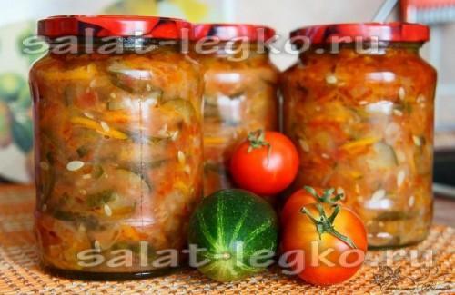 Закрутки салатов на зиму фото рецепт