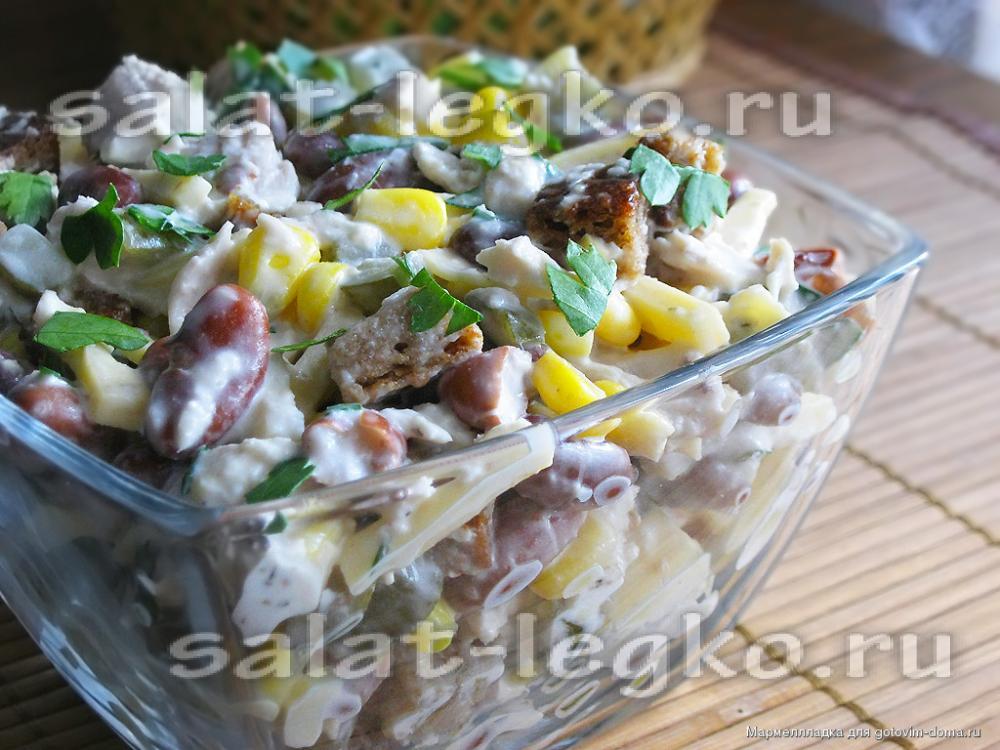 простые салаты с шампиньонами рецепты с фото простые