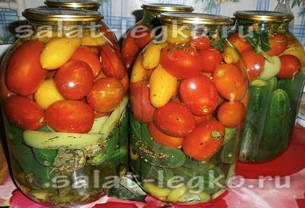 Заготовка на зиму из помидор и базилика
