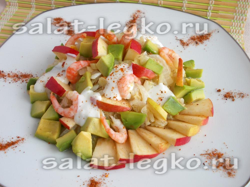 Новогодние салаты с авокадо картинки