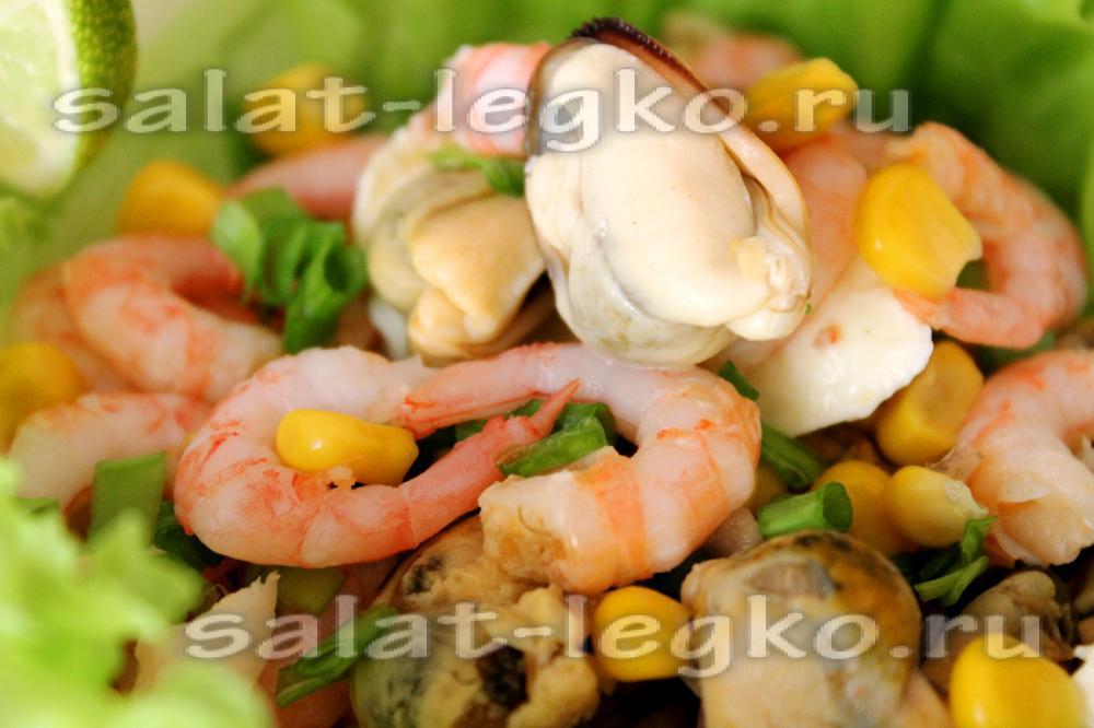 Салат с креветками с кукурузой рецепт очень вкусный 87
