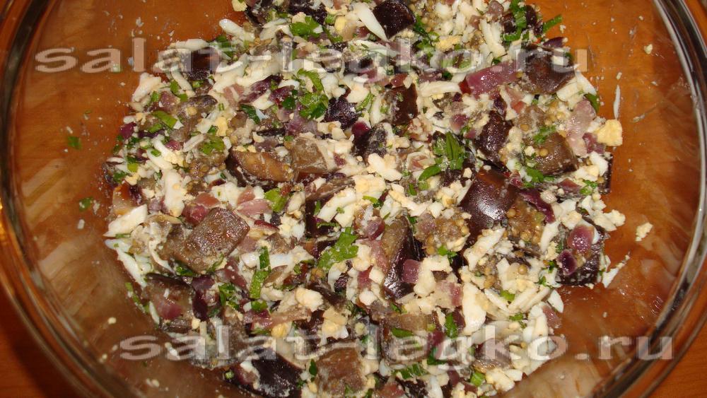 Салаты из баклажанов с яйцом рецепты с