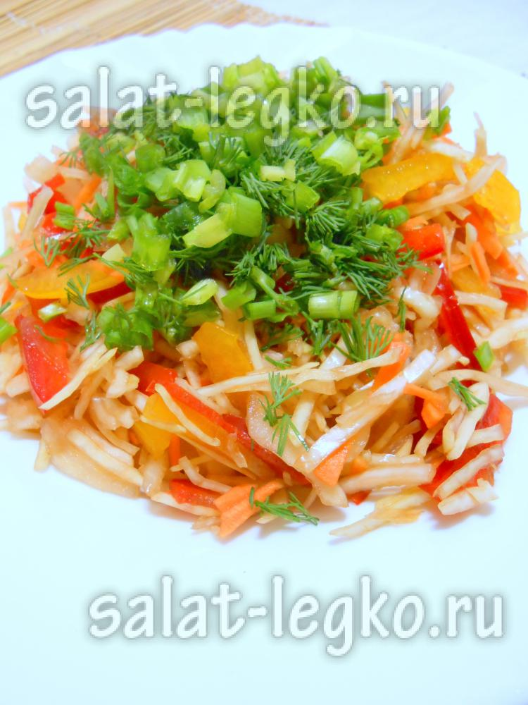 рецепт витаминного салата из капусты с уксусом