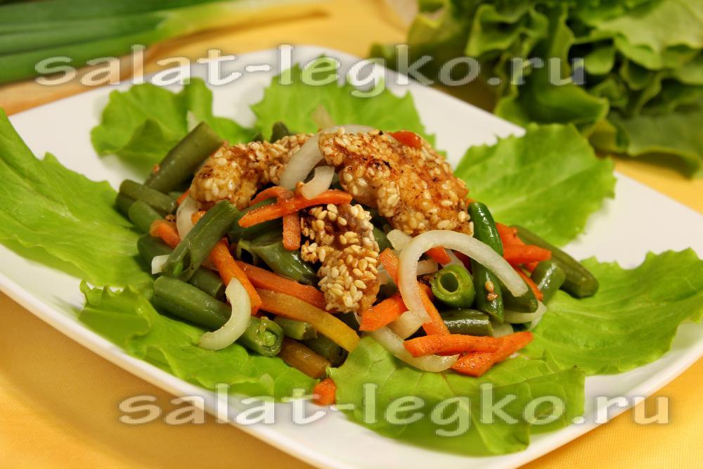 рецепт салата с огурцом и свининой