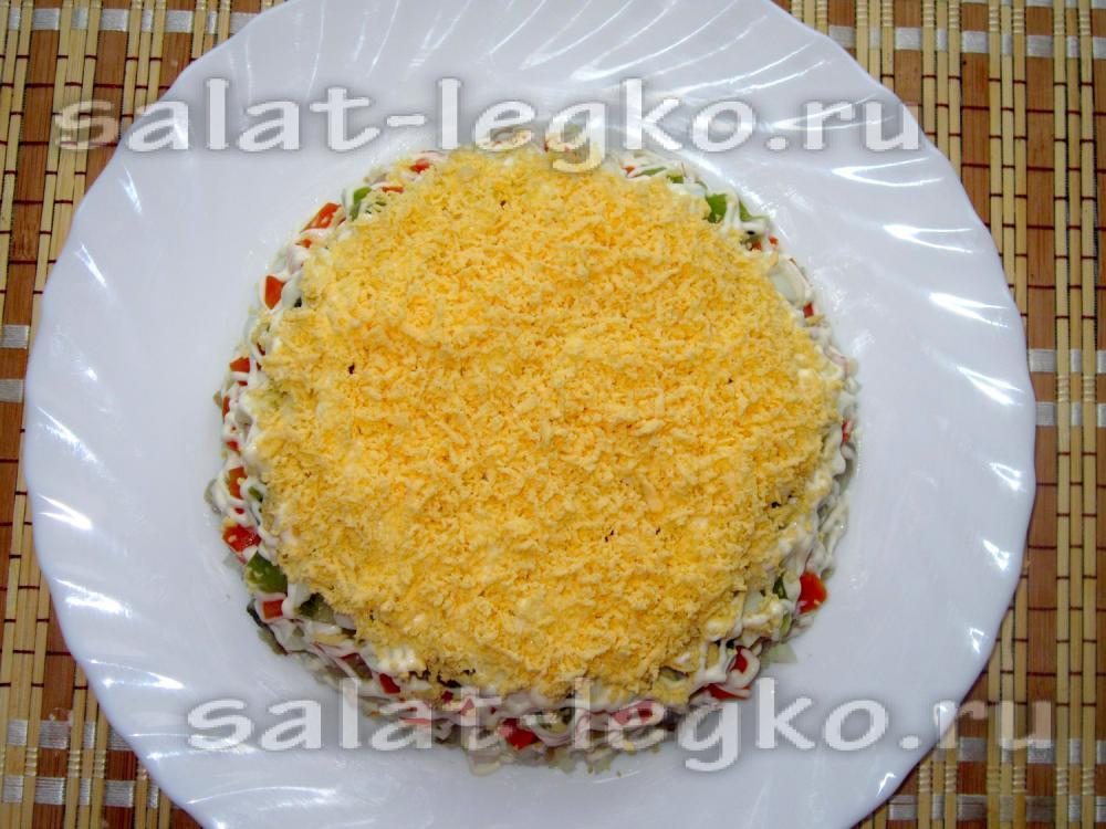 Мимоза со скумбрией рецепт с фото