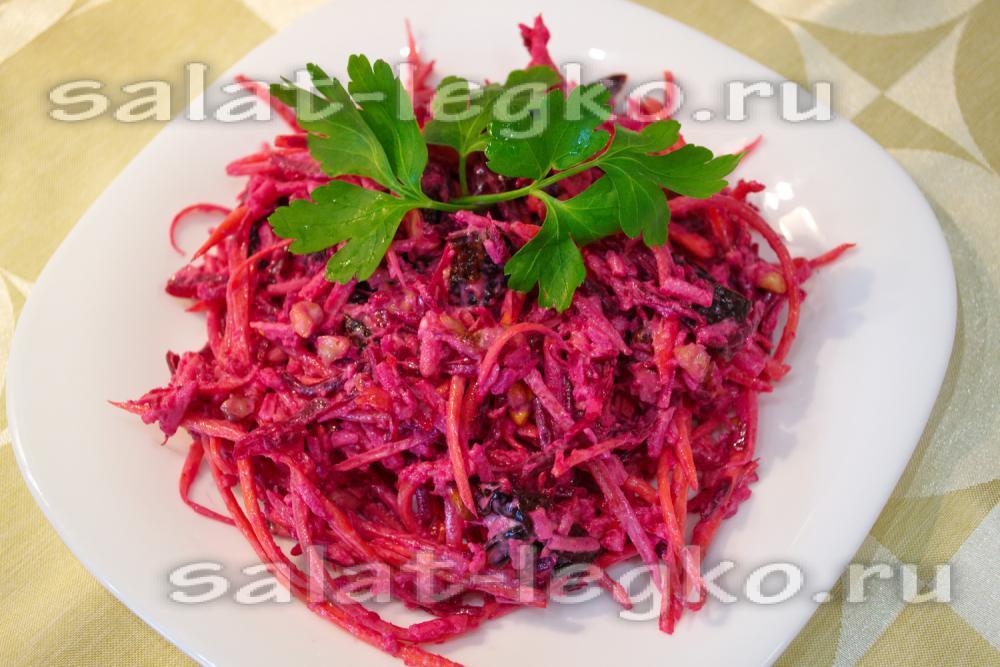 Салат из свеклы и моркови и майонеза