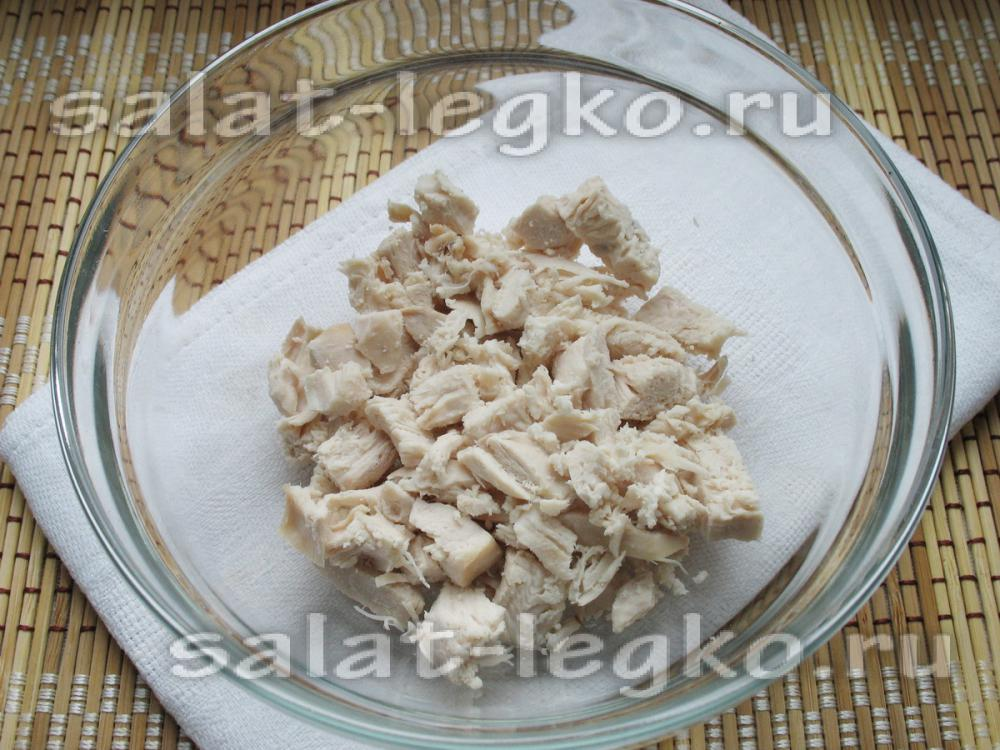 Салат с курица шампиньоны орехи чернослив