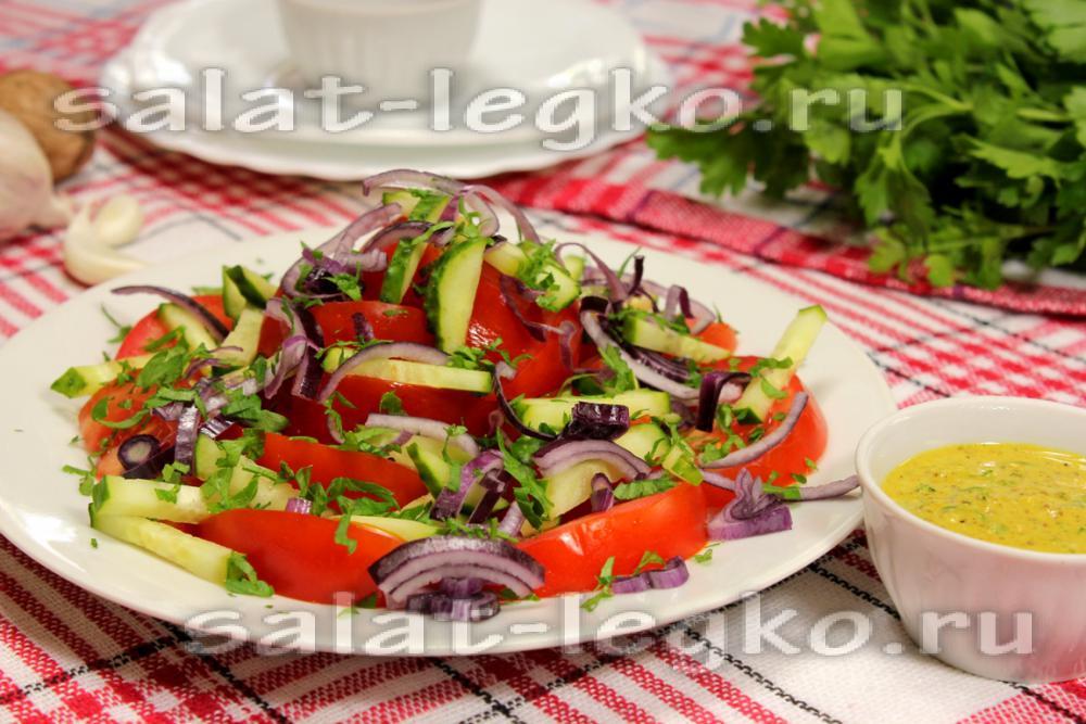Салат из курицы огурцов помидор салата