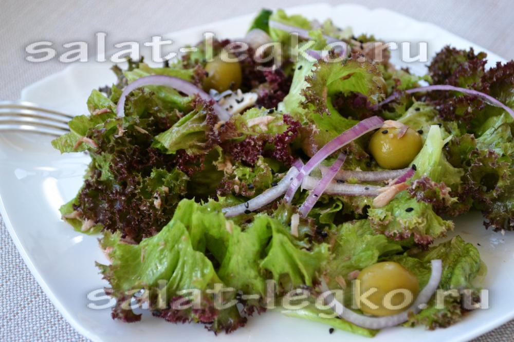 рецепт салата вкусного с тунцом консервированным рецепт