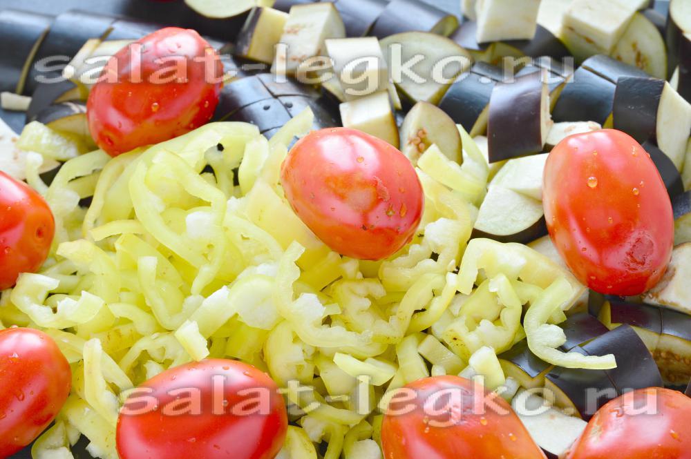 рецепты салатов на зиму из помидоров и баклажан