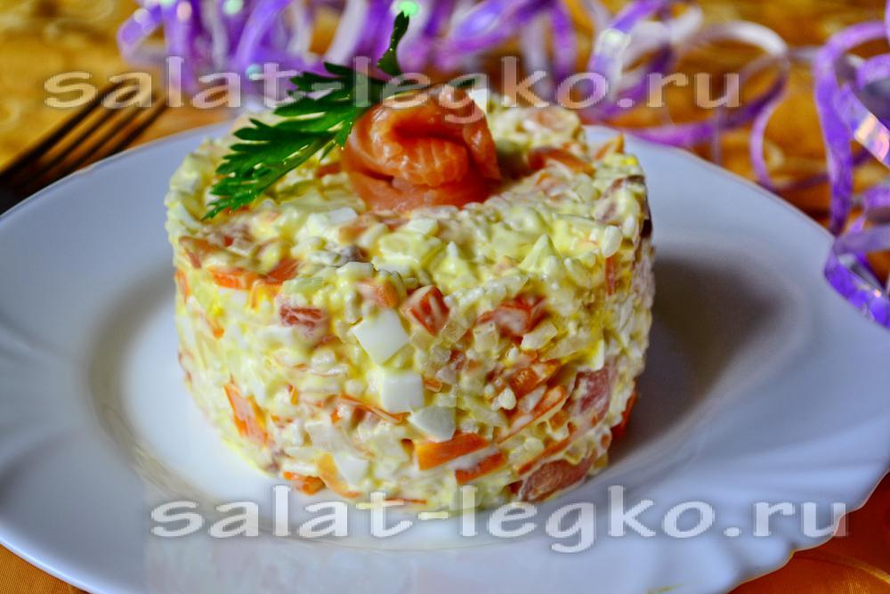 мимоза салат с рыбой и рисом рецепт