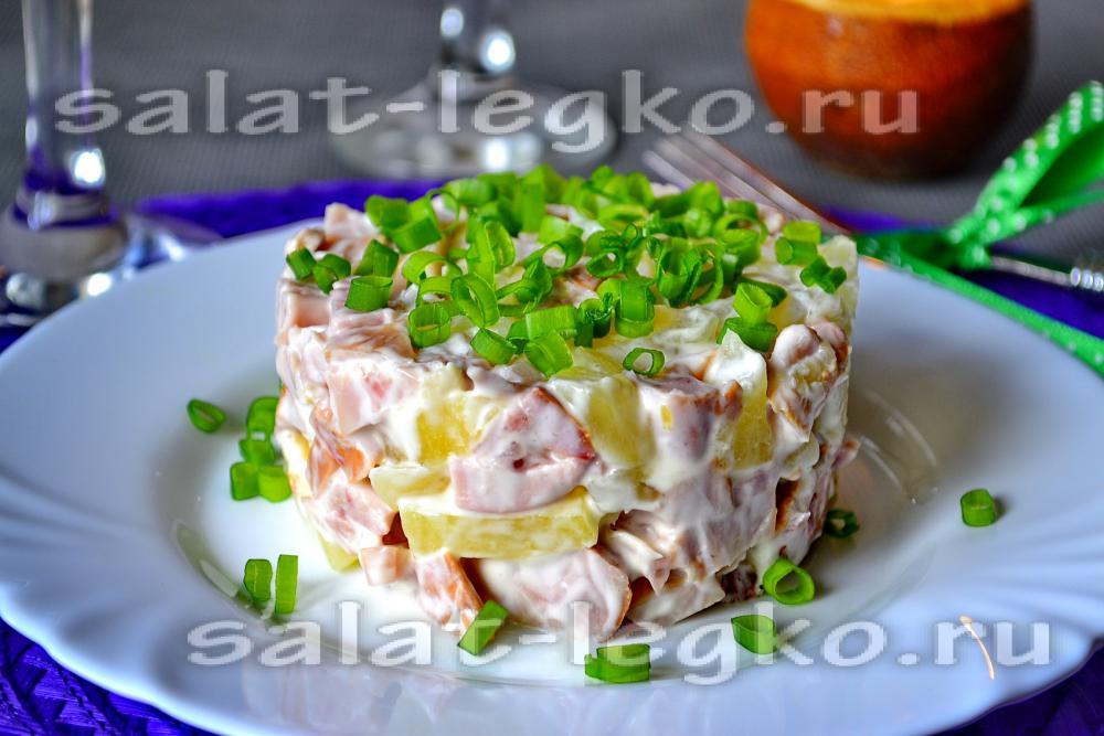 Салат з ананасом і куркою 42