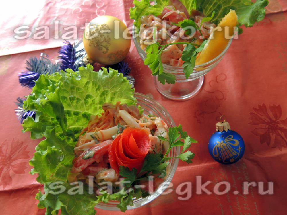 Салат Лесная полянка  рецепт с фото