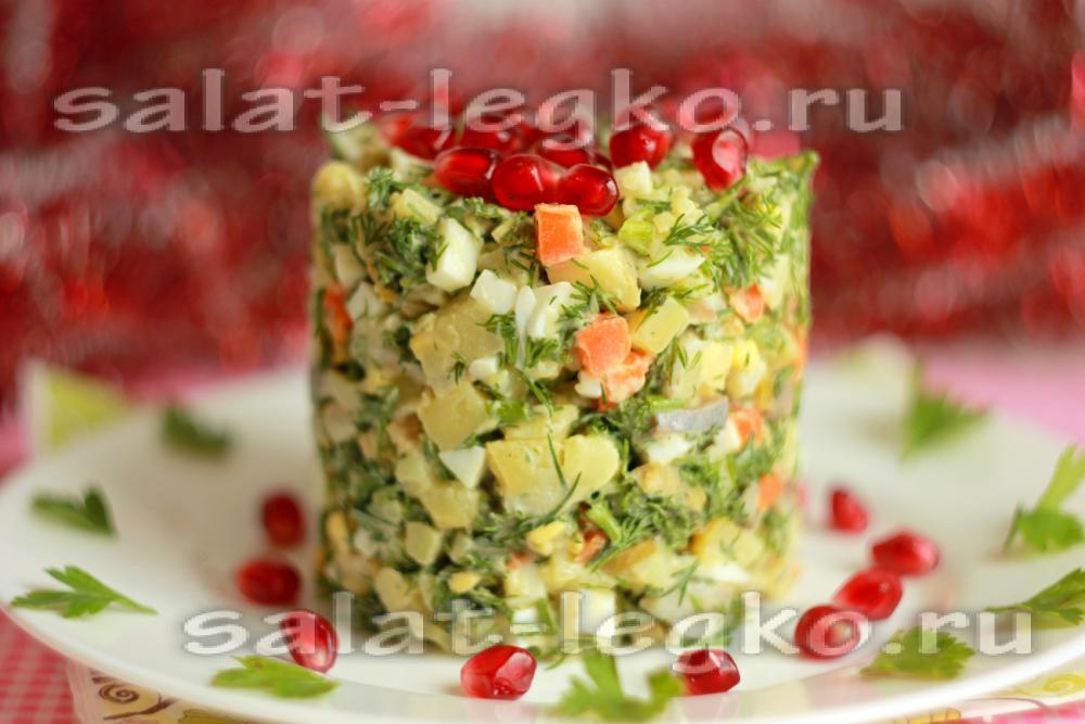 Рецепт салата с сельдью с