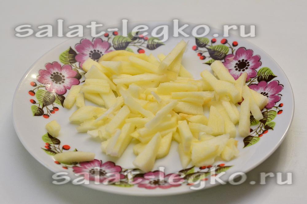 Салат с ветчиной, сыром и болгарским перцем - рецепт с фото