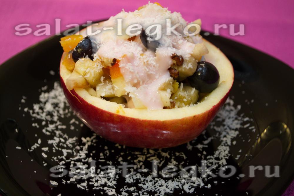 рецепт фруктового салата со сливками рецепт