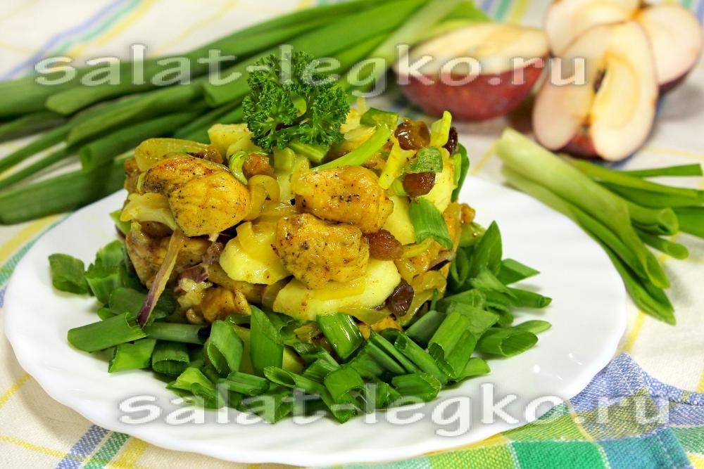 Кулинария салаты рецепты с курицей и грибами
