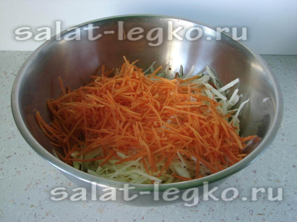 Как сделать салат из свежей капусты рецепт