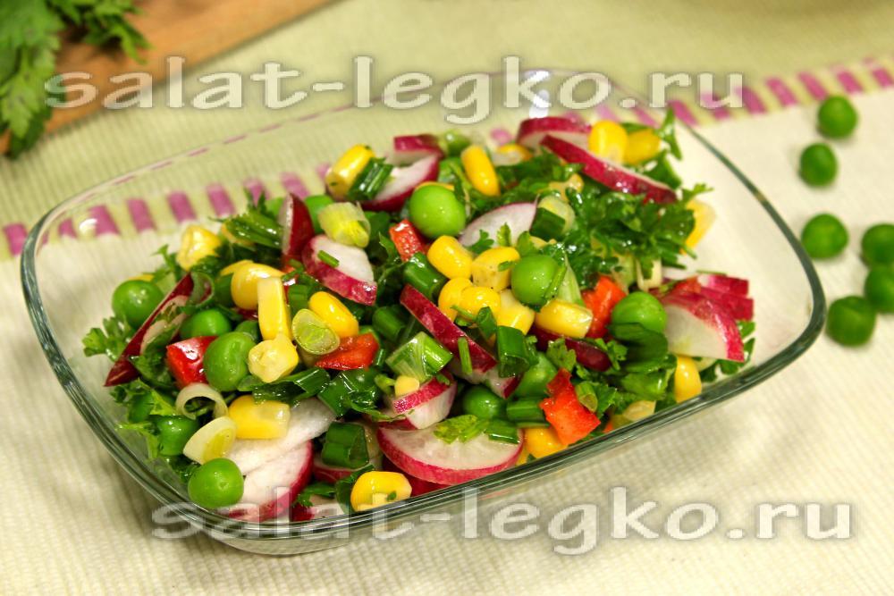 рецепт салата с консервированной кукурузой и грибами рецепт