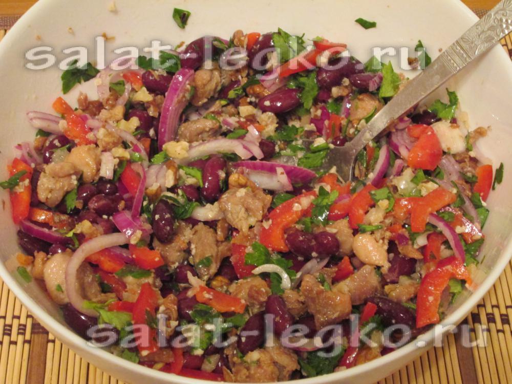 Салат с пекинской капустой с маслом растительным маслом