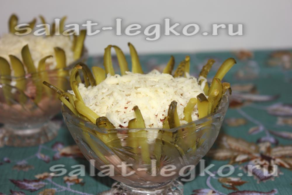 салат арлекино рецепт с сыром