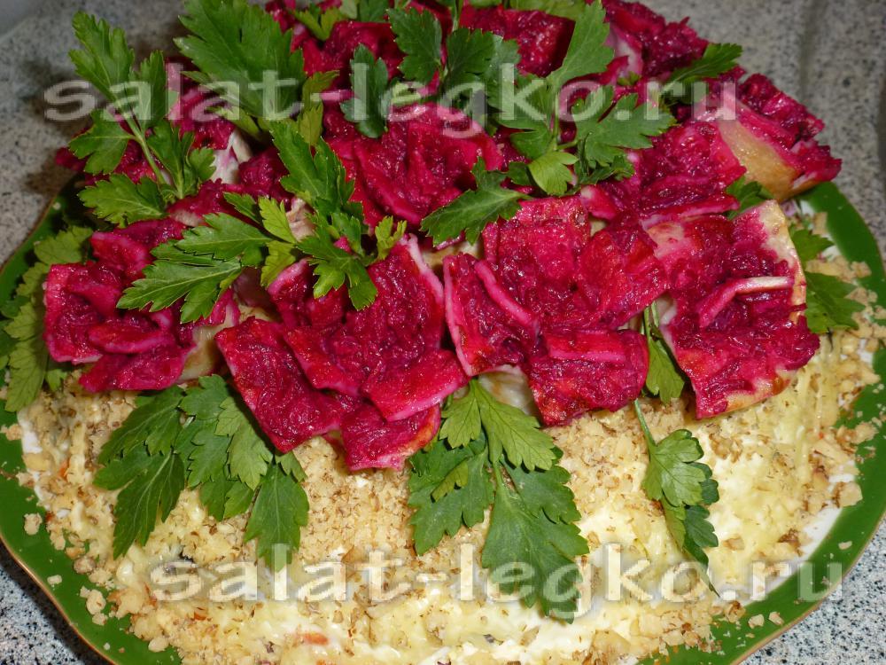 Салат роза с фото