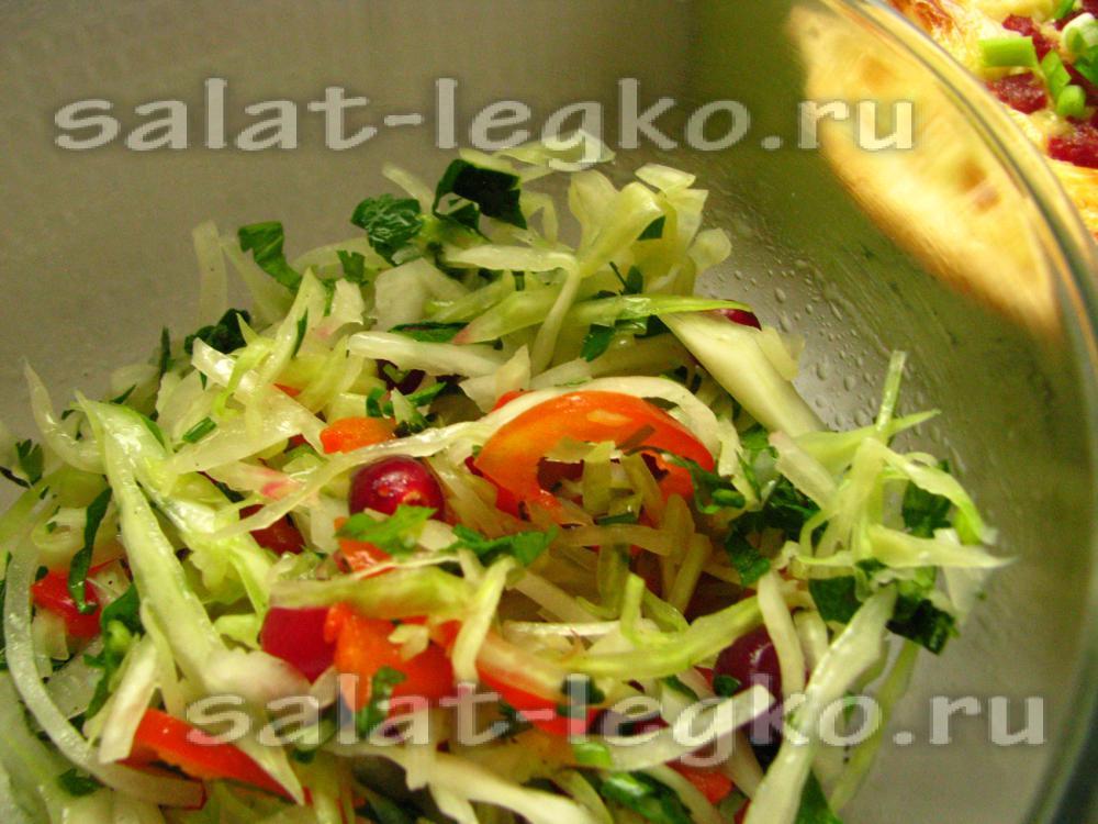 рецепт салата из капусты с клюквой рецепт