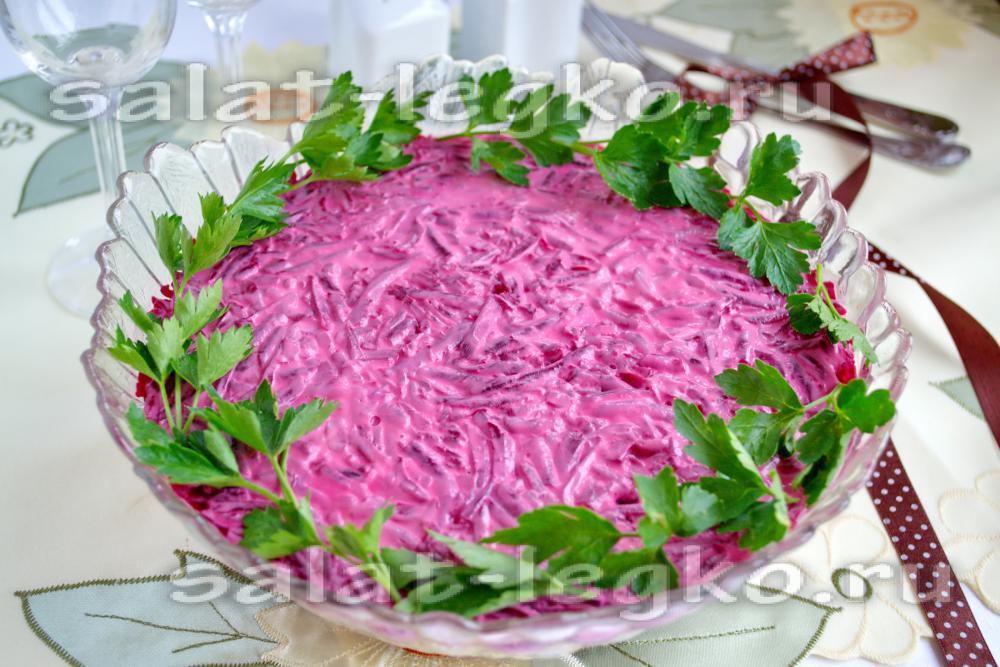 Салат под шубой рецепт классический с фото пошагово