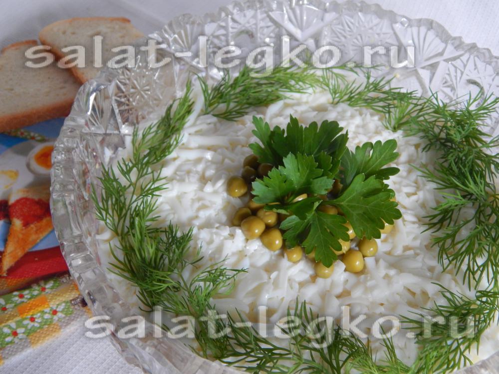 Салат с печенью трески консервированной рецепт