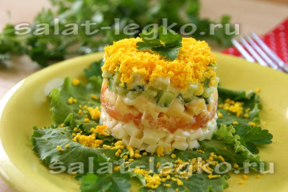 Салат из форели рецепт очень вкусный 172