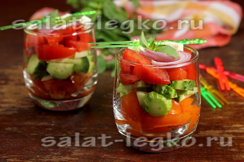 Салат-коктейль овощной с фото