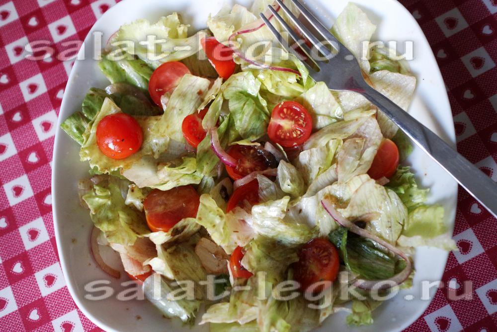 салат айсберг рецепт с кукурузой помидорами