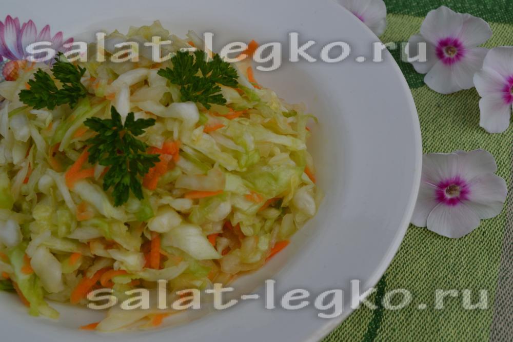 салат с капустой и морковью простой рецепт