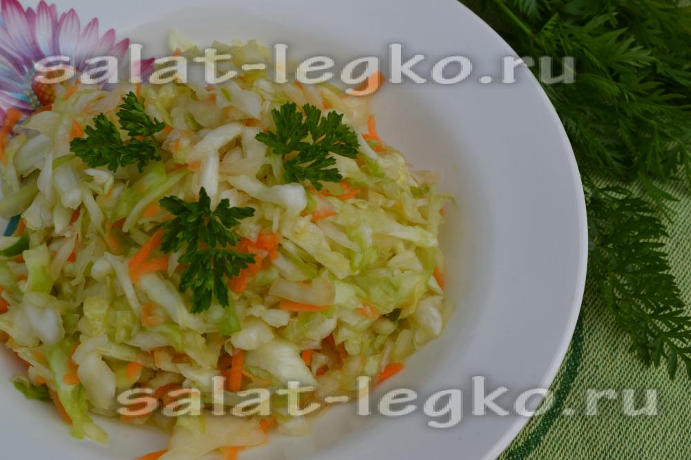 Рецепт салата со свежей салатом