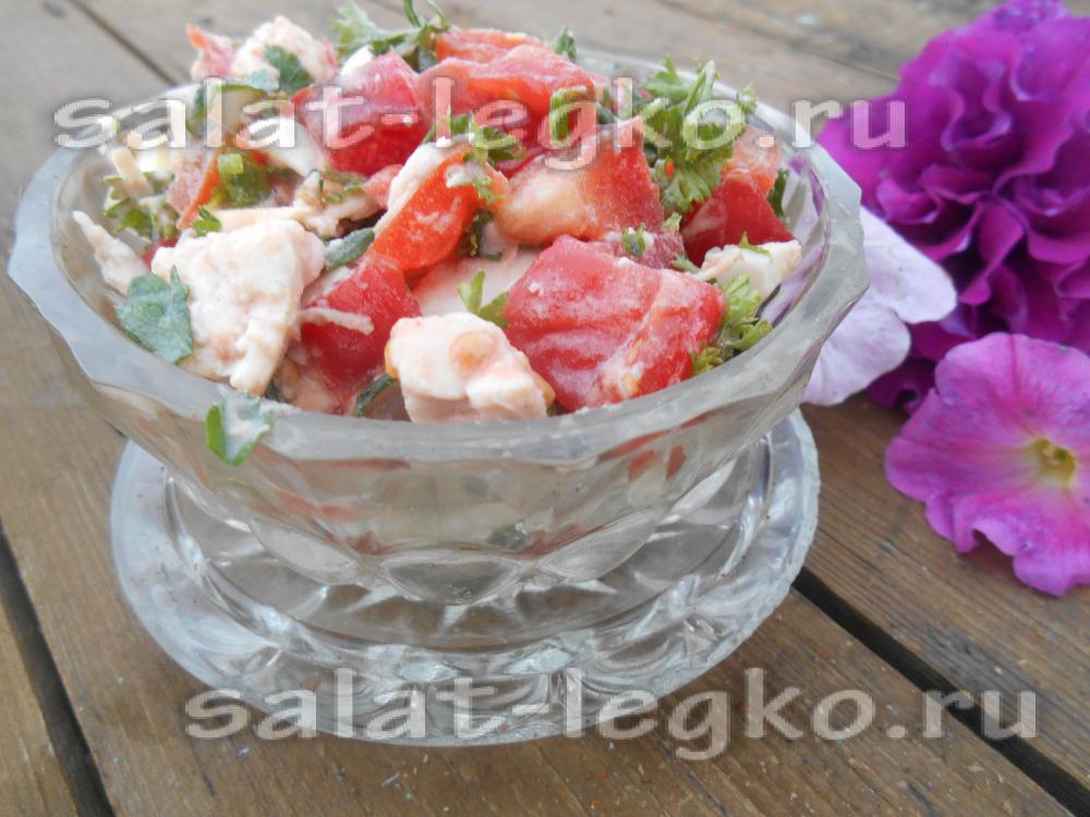 рецепт салата с курицей грибами и перцем