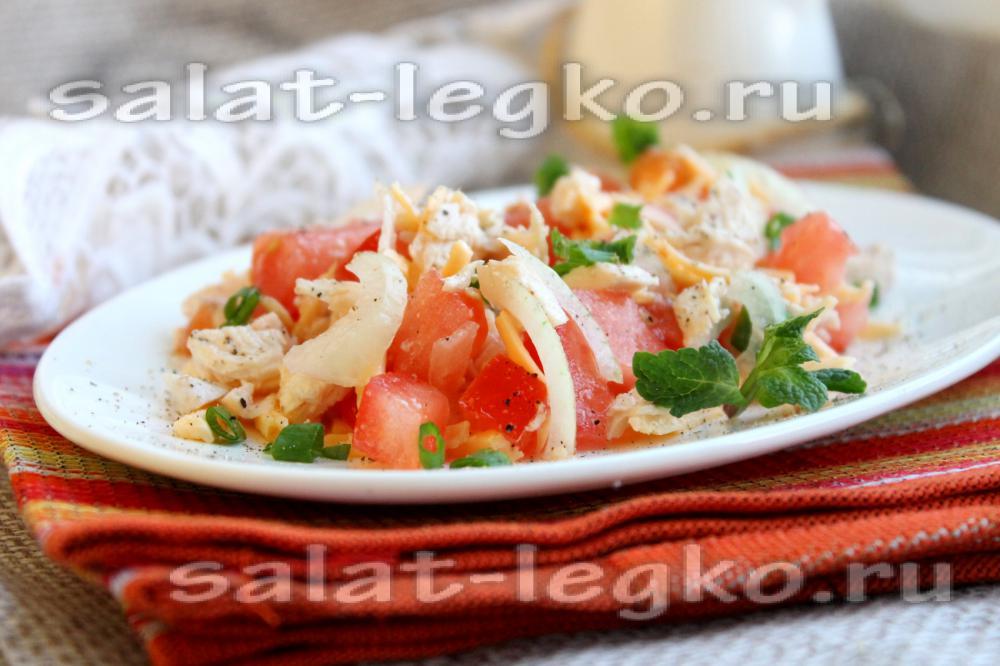 рецепты салатов из куриного филе фото