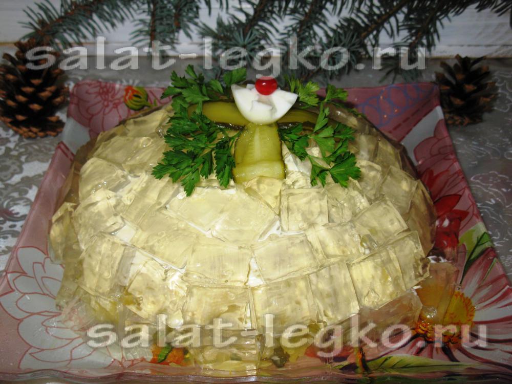 Салат хрустальный с фото