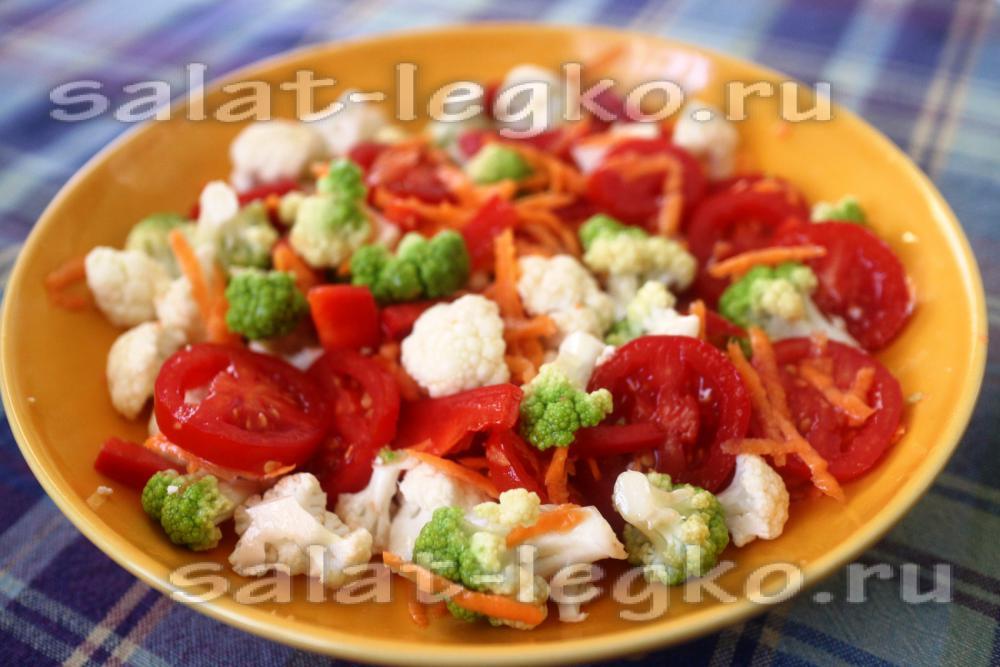 Салат с рыбой отварной форелью
